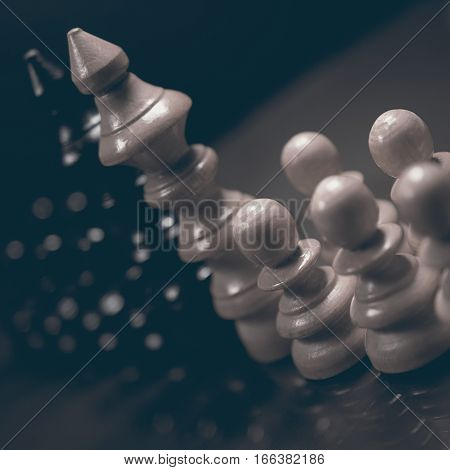 Political Dialogue. Danger Chess Game. Conflict Of Interest.