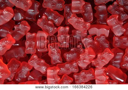 Full photo of Gummy bears red color