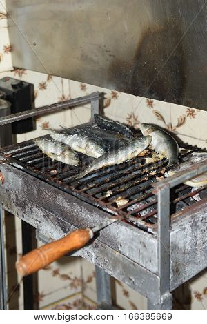Detail of some Sardines grilled in Aveiro Portugal