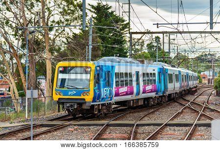 Melbourne, Australia - December 28, 2016: Melbourne Metro Train at Ringwood Station