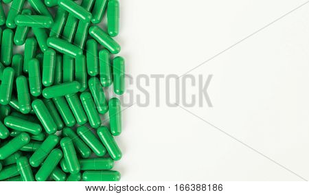 Part Of Pill Pile On White Background