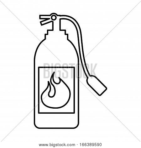 extinguisher fire isolated icon vector illustration design