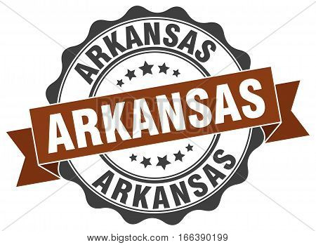 Arkansas. round isolated grunge vintage retro stamp