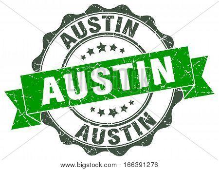 Austin. round isolated grunge vintage retro stamp