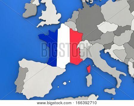 France On Globe