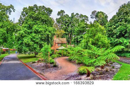 Captain Cook's Cottage in Fitzroy Garden in Melbourne - Australia, Victoria