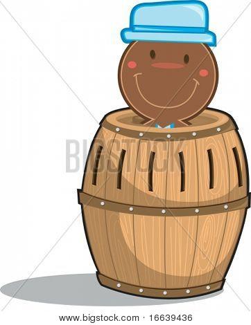 illustration of a barrel on white