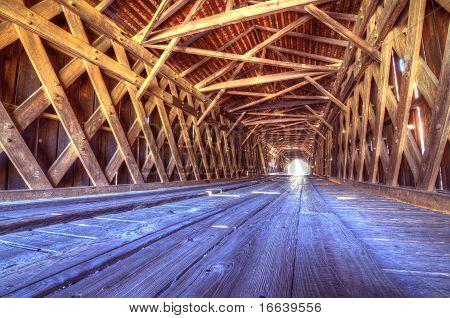 Interior Of Watson Mill Covered Bridge