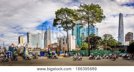 Vietnam, Saigon, Ho Chi Minh city downtown
