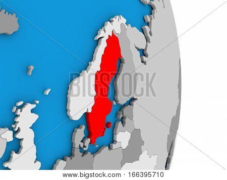 Sweden On Globe