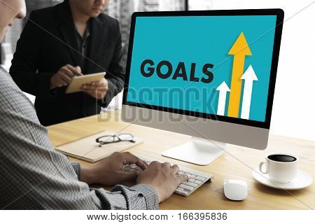 Businessman Success Increase Goals Profit Growth Target Earnings Quality Improve Your Skills And Mak