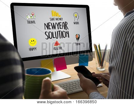 Newyear  Solution  For Goals Start Your Life Lifestyle Begin Beginning Businessman Business