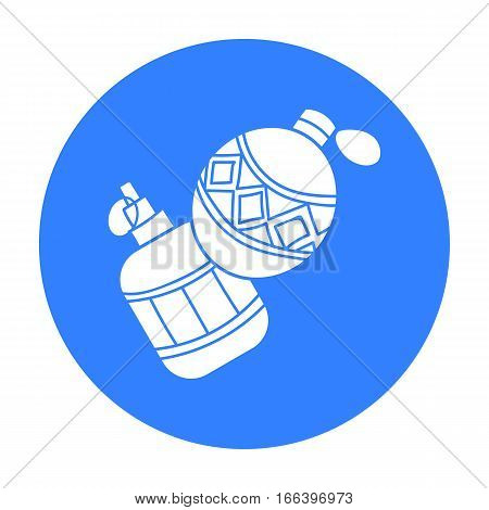 Paintball hand grenade icon in outline design isolated on white background. Paintball symbol stock vector illustration. - stock vector