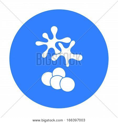 Balls for paintball icon in outline design isolated on white background. Paintball symbol stock vector illustration. - stock vector