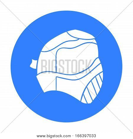 Paintball mask icon in outline design isolated on white background. Paintball symbol stock vector illustration. - stock vector