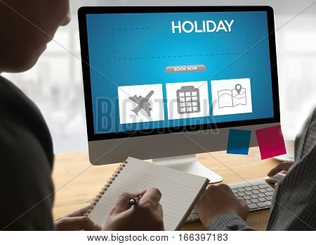 Touch Online Holiday Reservation Booking Interface To Go Trip Holiday