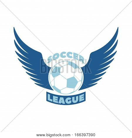 European football, soccer label or emblem and design championship element. Vector logo tournament icon symbol.