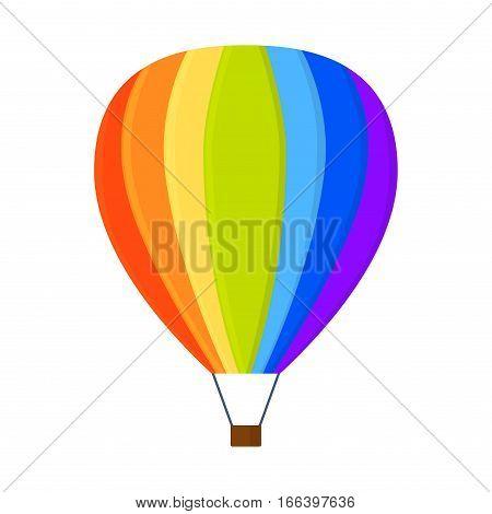 Ballooning high sport aerostat flat icons cartoon graphic.