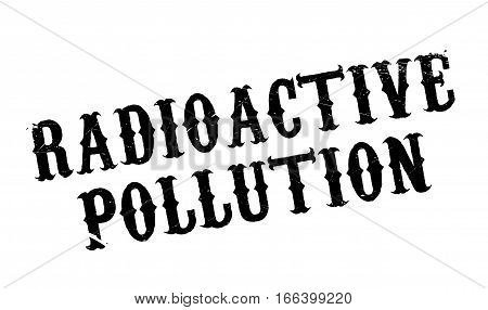 Radioactive Pollution rubber stamp. Grunge design with dust scratches. Effects can be easily removed for a clean, crisp look. Color is easily changed.