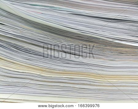 Stack of papers. Close up picture of stacked paper.
