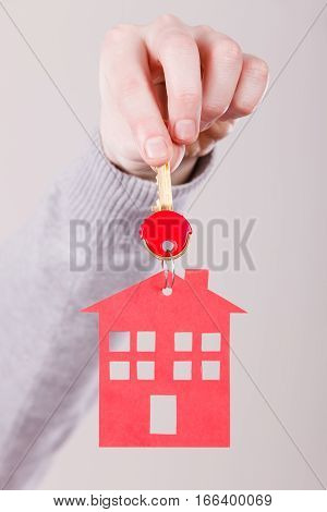 Key Ring With House Pendant.