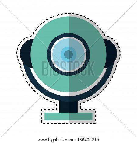 web cam gadget isolated icon vector illustration design