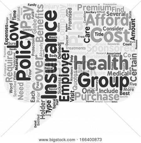 How To Obtain Low Cost Health Insurance text background wordcloud concept