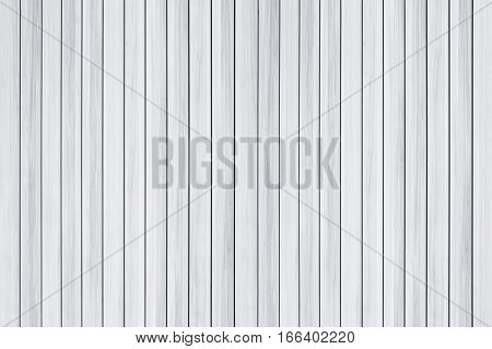 White wood wall texture and background for design pattern artwork.