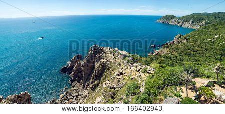 Panorama Of Rocky Coast, Phu Yen, Vietnam