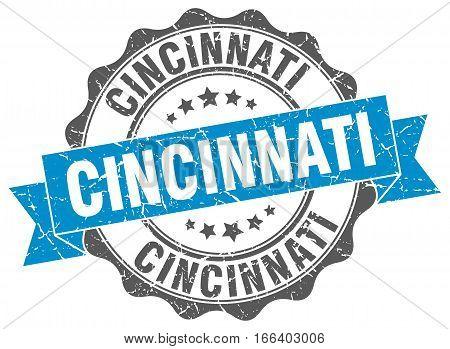 Cincinnati. round isolated grunge vintage retro stamp