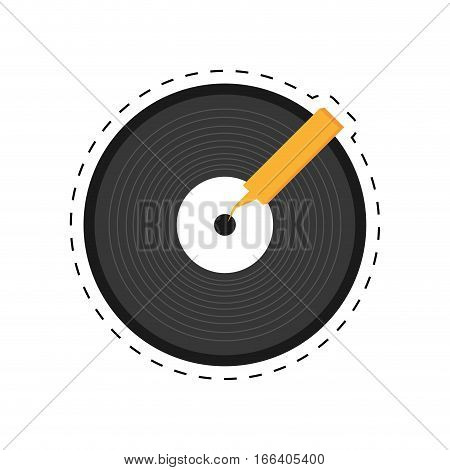vinyl record lp dotted line vector illustration eps 10