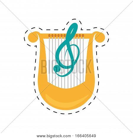 harp lyre music classic dotted line vector illustration eps 10
