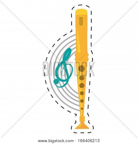 pan flute instrument dotted line vector illustration eps 10