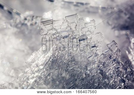 Closeup Picture Of An Ice Crystal