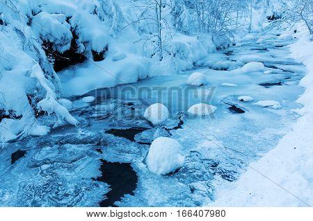Mountain Stream Bayehon In The High Vens