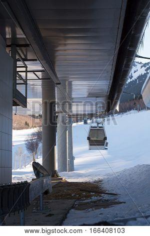 Gondola At A Ski Resort