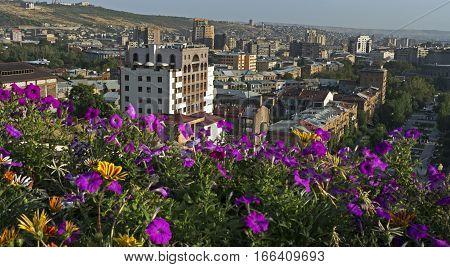 View of Yerevan from Cascade, Transcaucasia, Armenia