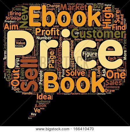 How to Price Your eBook text background wordcloud concept