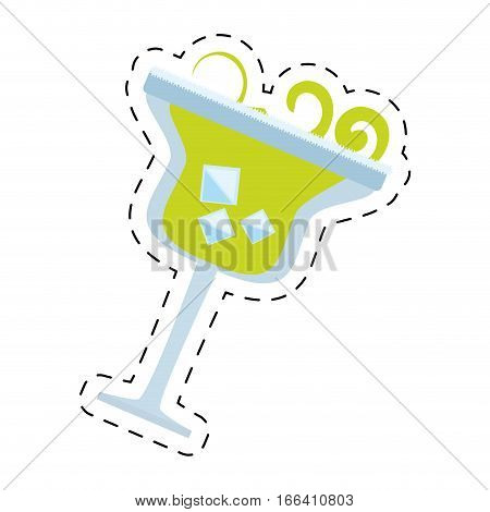 alcoholic cocktail popular bar dot line vector illustration eps 10