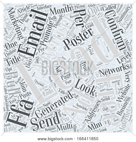 How To Promote Your Website With Free Leads Word Cloud Concept