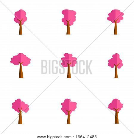 Beauty tree set of collection stock vector art