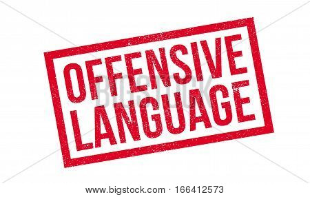Offensive Language rubber stamp. Grunge design with dust scratches. Effects can be easily removed for a clean, crisp look. Color is easily changed.