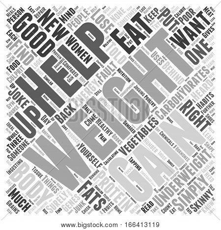 How To Put Weight Gain On Women Word Cloud Concept