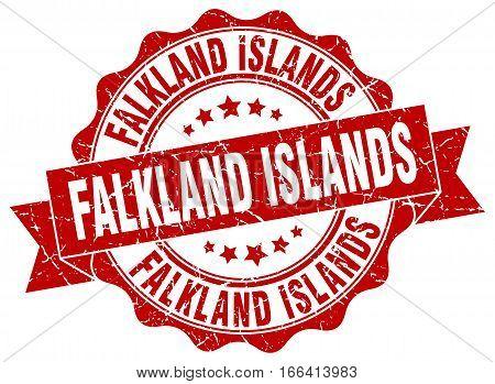 Falkland Islands. round isolated grunge vintage retro stamp