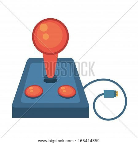 joystick controller retro game cable vector illustration eps 10