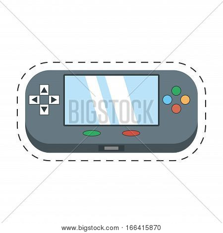 video gamepad portable technology vector illustration eps 10