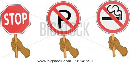illustration of sign board on a white background