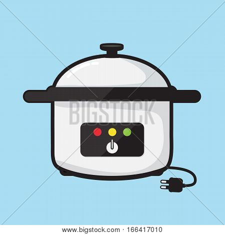 Electric pot vector design , Appliances in the kitchen