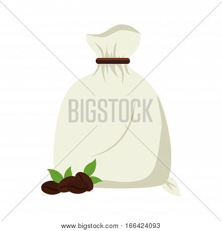 coffee sack packing isolated icon vector illustration design