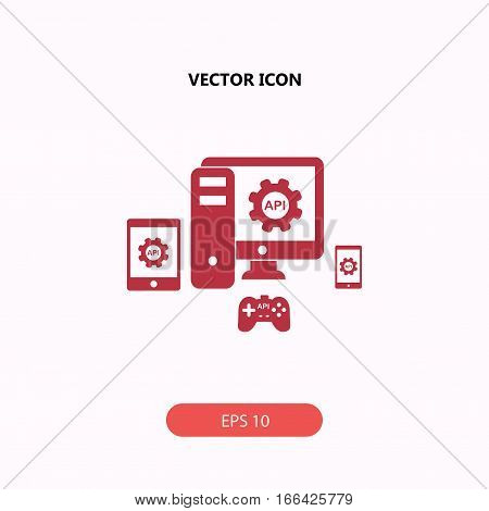 API application programming interface Icon, API application programming interface Icon Eps10, API application programming interface Icon Vector, API application programming interface Icon Eps, API application programming interface Icon Jpg, API applicatio